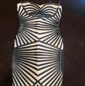 Celeb boutique Aysha Leatherette Dress M